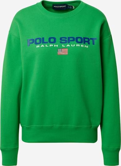 POLO RALPH LAUREN Sweatshirt in blau / grasgrün / weiß, Produktansicht