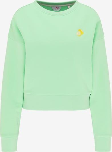 MYMO Sweatshirt in gelb / mint, Produktansicht