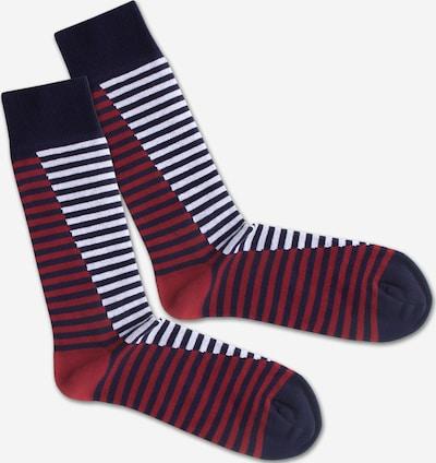 Kojinės 'SS20-08 Double Sea Liner' iš DillySocks , spalva - tamsiai mėlyna / raudona / balta, Prekių apžvalga