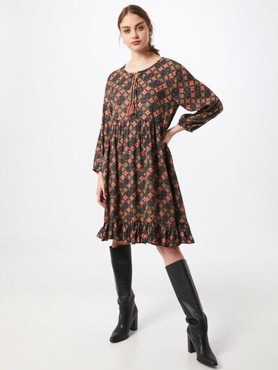 Zwillingsherz Kleid 'Wanda' in tanne / mischfarben, Modelansicht
