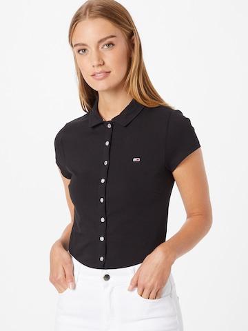 Camicia da donna di Tommy Jeans in nero