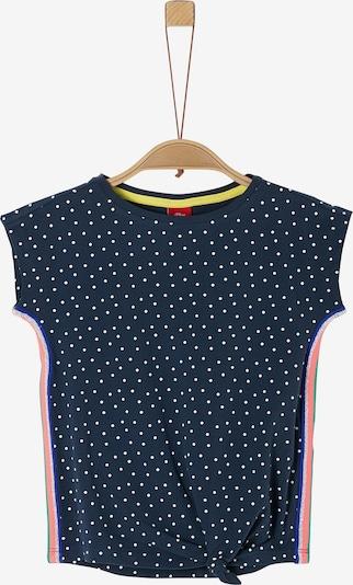 s.Oliver T-Shirt in nachtblau / altrosa / weiß, Produktansicht