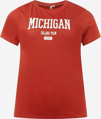 ONLY Carmakoma Koszulka 'COLLEGE' w kolorze czerwony / białym, Podgląd produktu