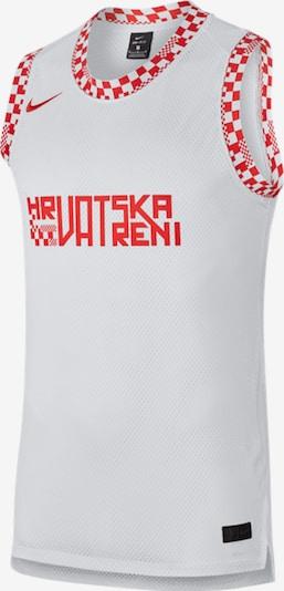 NIKE Shirt in knallrot / offwhite, Produktansicht
