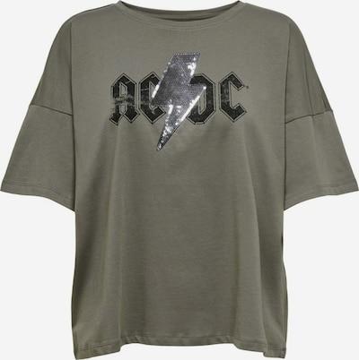 ONLY T-Shirt 'AC/DC' in dunkelgrau / schwarz, Produktansicht