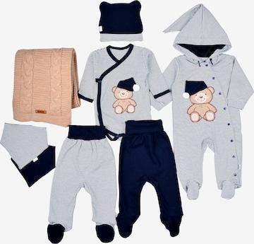 LEO Erstausstattungsset Baby Set Tiny Ted (8-Pack) in Blau