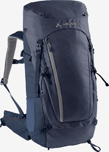VAUDE Sports Backpack 'Asymmetric 38+8' in marine blue / Grey, Item view
