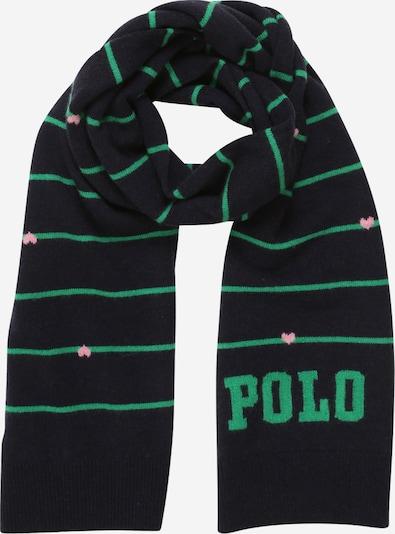 POLO RALPH LAUREN Sjaal in de kleur Navy / Groen / Rosé, Productweergave