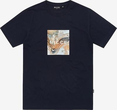 Nicce T-Shirt 'AERIAL BOX ' en bleu marine / gris clair / orange clair / blanc, Vue avec produit
