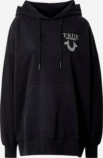 True Religion Sweater majica u crna / srebro, Pregled proizvoda