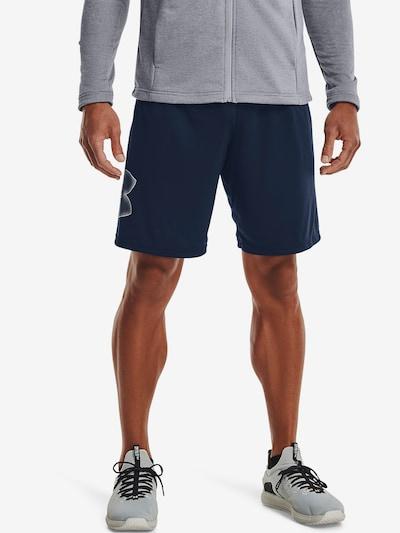 UNDER ARMOUR Sportbroek in de kleur Navy / Wit: Vooraanzicht
