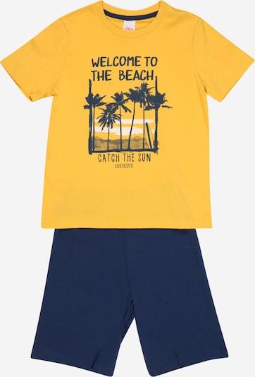 s.Oliver Pijama en navy / dorado / blanco, Vista del producto