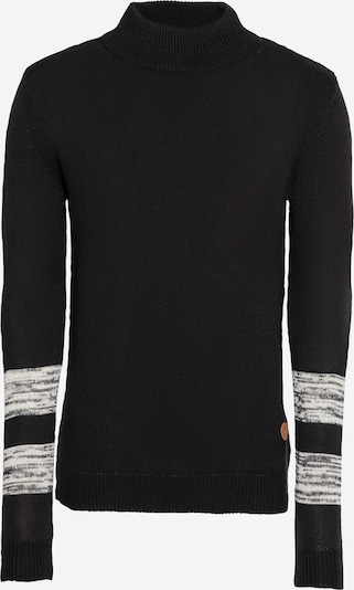 Hailys Men Pullover 'Benji' in schwarz / weiß, Produktansicht