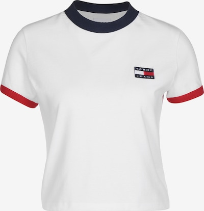 Tommy Jeans T-Shirt 'Badge Ringer' in navy / rot / weiß, Produktansicht