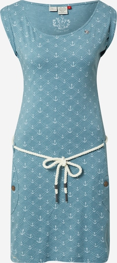Ragwear Kleid 'Tag' in pastellblau / weiß, Produktansicht