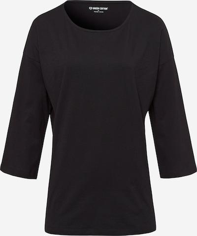 Green Cotton 3/4-Arm-Shirt Shirt in schwarz, Produktansicht