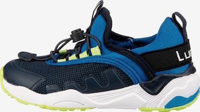 LURCHI Sneaker in dunkelblau / neongelb / weiß, Produktansicht