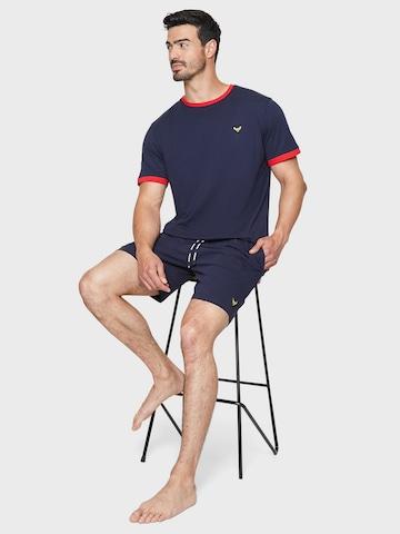 Threadbare Long Pajamas 'Zane PJ Set' in Blue