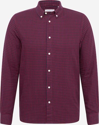 KnowledgeCotton Apparel Hemd 'LARCH' in dunkelblau / rotmeliert, Produktansicht
