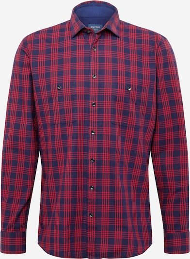 OLYMP Button Up Shirt in Navy / Red, Item view