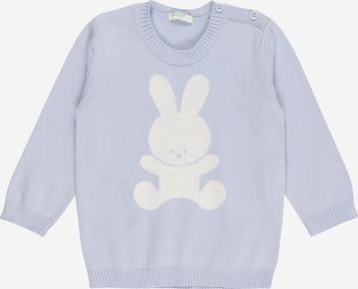 UNITED COLORS OF BENETTON Пуловер в лазурно синьо / бяло, Преглед на продукта