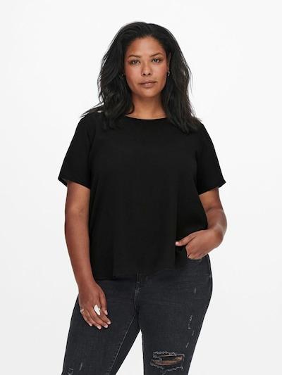 ONLY Carmakoma Bluse in schwarz, Modelansicht