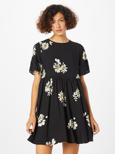 NEW LOOK Dress in Yellow / Black / White, View model