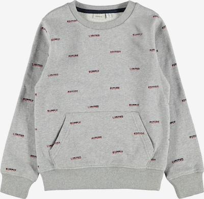 NAME IT Sweatshirt en graumeliert / rot / schwarz, Vue avec produit