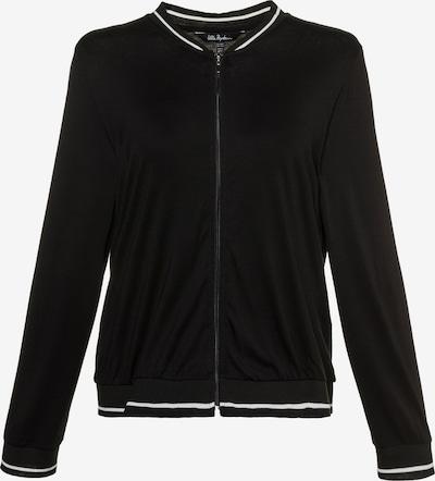Ulla Popken Homewear-Jacke in schwarz, Produktansicht