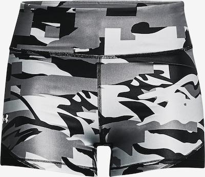 UNDER ARMOUR Sportbroek in de kleur Grijs / Zwart / Wit: Vooraanzicht