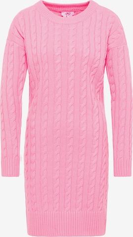 MYMO Gebreide jurk in Roze