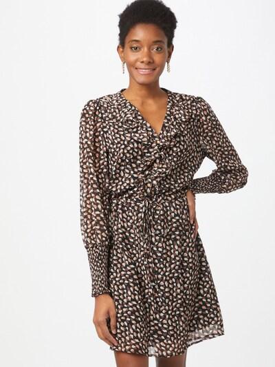 Freebird Kleid in braun / puder / schwarz / weiß, Modelansicht