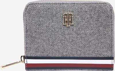 TOMMY HILFIGER Geldbörse in nachtblau / graumeliert / rot / weiß, Produktansicht