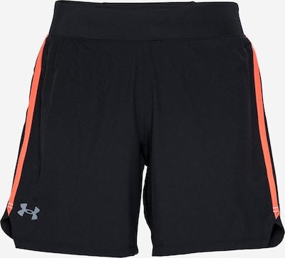 UNDER ARMOUR Sportbyxa 'SpeedPocket 7' i grå / orange / svart, Produktvy