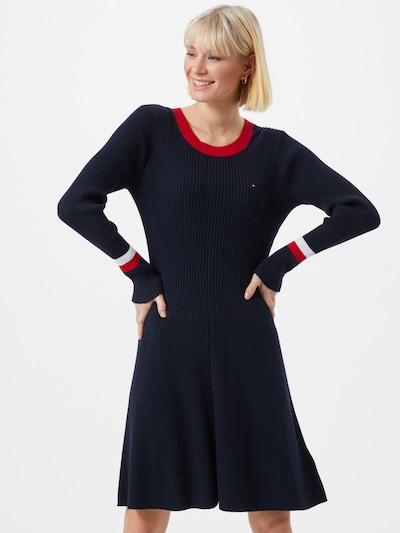 TOMMY HILFIGER Kleid in dunkelblau / rot / weiß, Modelansicht