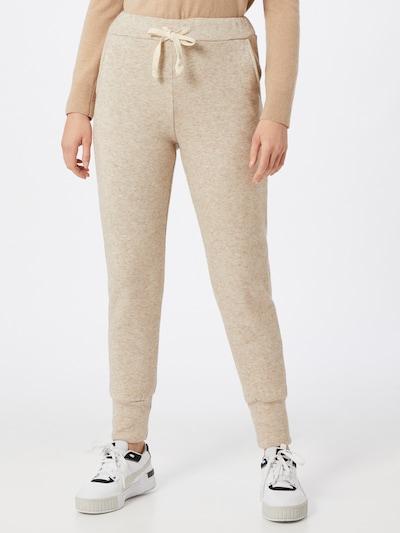 Zwillingsherz Pantalon 'Jelena' en beige chiné, Vue avec modèle