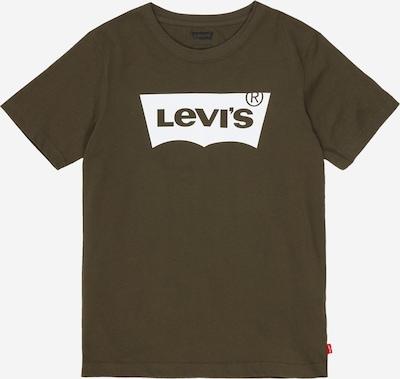 LEVI'S Shirt 'Batwing' in dunkelbraun / oliv / weiß, Produktansicht