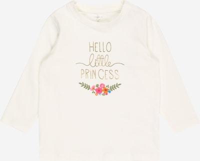 NAME IT Camiseta 'Bianca' en oro / verde / rosa / blanco, Vista del producto
