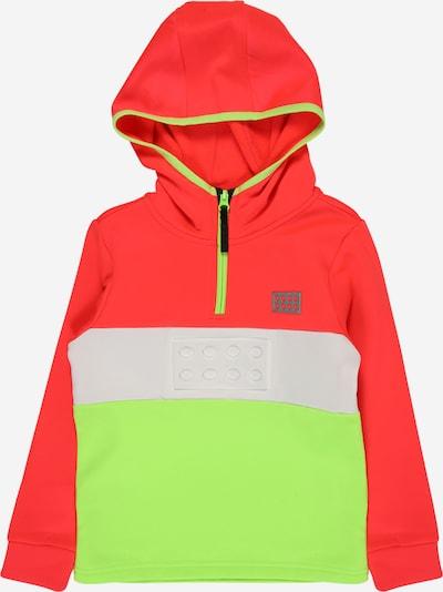 LEGO WEAR Sweatshirt 'SINCLAIR 707' in neongrün / koralle, Produktansicht