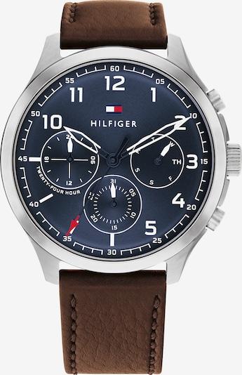 TOMMY HILFIGER Аналогов часовник в нейви синьо / тъмнокафяво / сребърно, Преглед на продукта