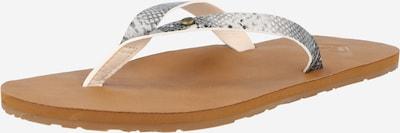 ROXY Sandalias de dedo 'JYLL' en gris / blanco: Vista frontal