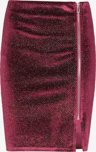 Fustă myMo at night pe roșu-violet / argintiu, Vizualizare produs