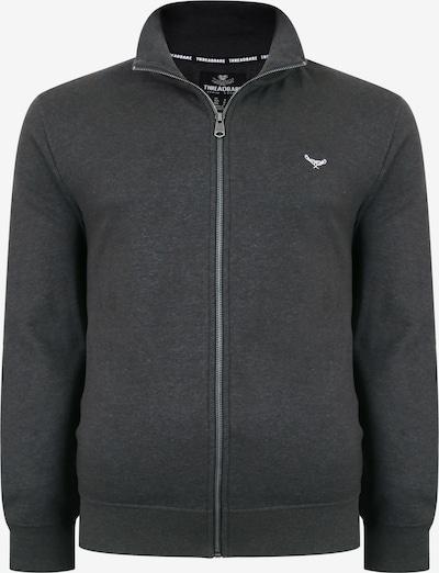 Threadbare Sweatjacke in grau / weiß, Produktansicht