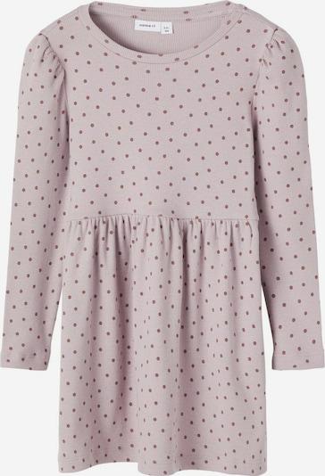 NAME IT Gepunktetes Rippdesign Kleid in rosa, Produktansicht