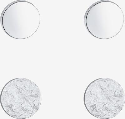 ELLI Ohrringe Basic Ohrstecker, Geo, Kreis, Textured in silber, Produktansicht