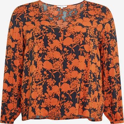 ABOUT YOU Curvy Bluse 'Nala Blouse' in dunkelblau / orange, Produktansicht