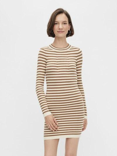 PIECES Kleid in beige / braun, Modelansicht