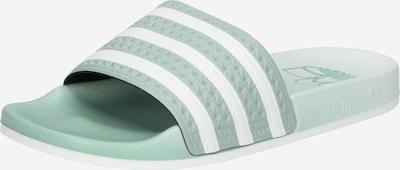 ADIDAS ORIGINALS Чехли 'Adilette' в пастелно зелено / бяло, Преглед на продукта