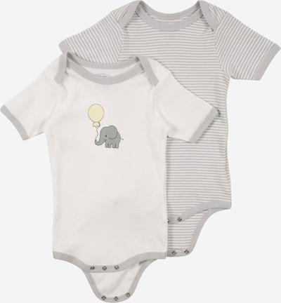 PLAYSHOES Бебешки гащеризони/боди в светлобежово / сиво / сив меланж / бяло, Преглед на продукта