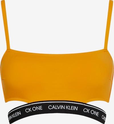 Calvin Klein Swimwear Bikinitop in goldgelb / schwarz / weiß, Produktansicht